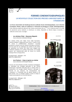 Publications facult des arts universit de strasbourg - Grille de salaire maitre de conference ...